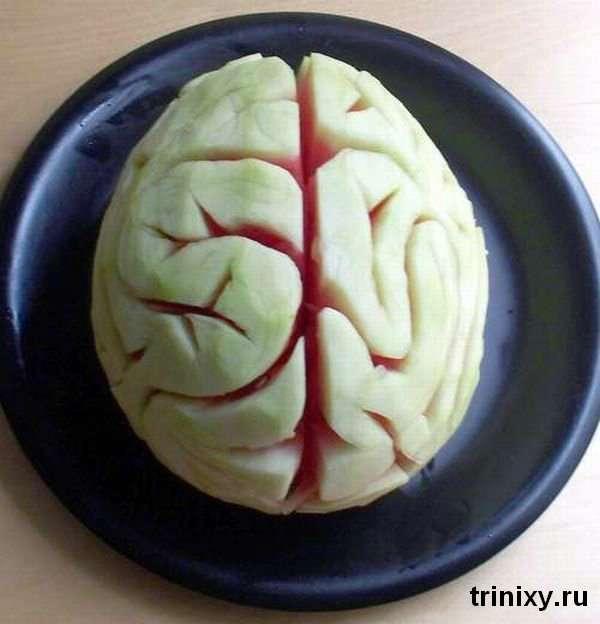 Як зробити з кавуна мозок (4 фото)