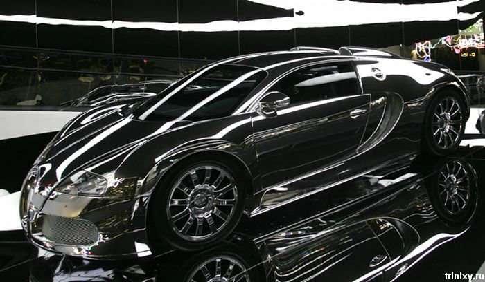 Хромований Bugatti Veyron (5 фото)
