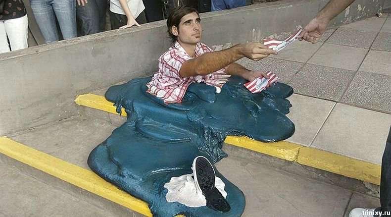 Розплавлений людина в Буенос-Айресі (2 фото)