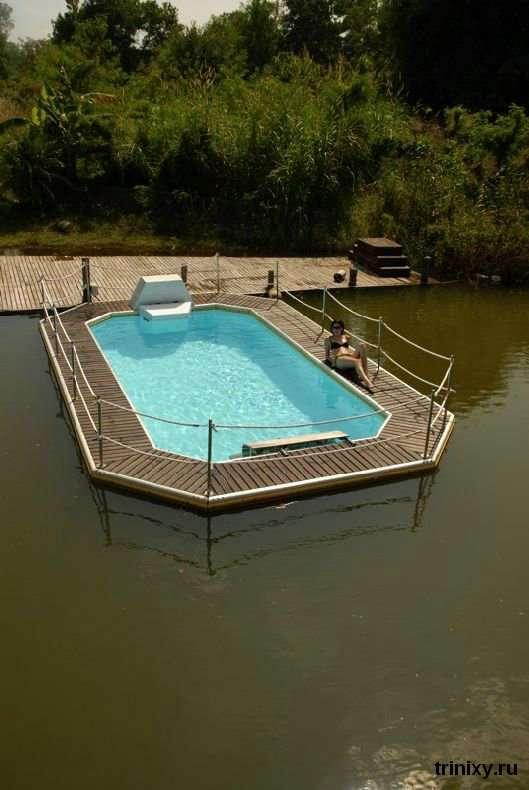 Плаваючі басейни (51 фото)