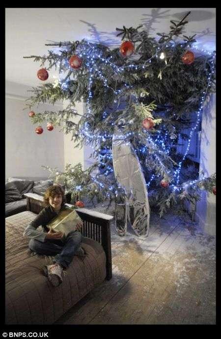 Найвища домашня новорічна ялинка в світі (5 фото)