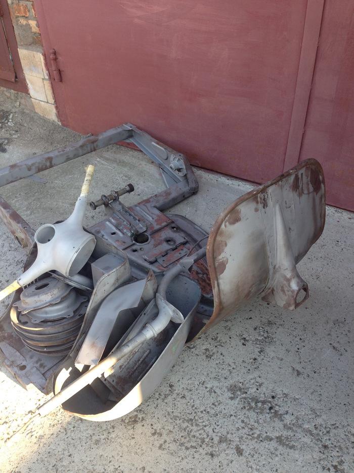 Реставрация мотороллера
