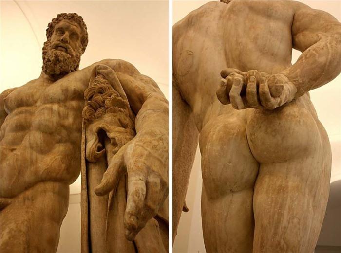 Так гигантская рука Геркулеса или нет? Статуя