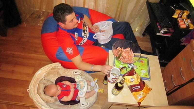 Когда батя берется за воспитание ребенка! картинки