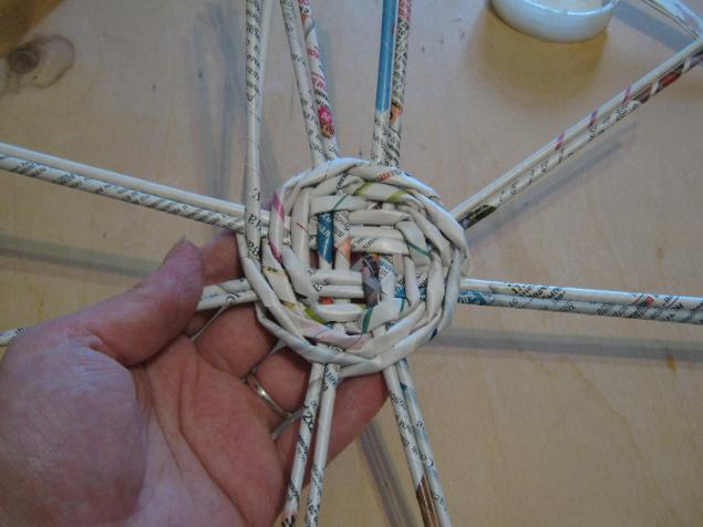 Мастер-класс плетение из газет мастер класс