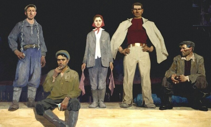 «Нарисуем — будем жить»: строители и стройка в советской живописи Живопись