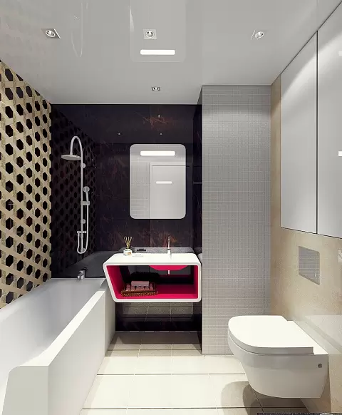 Квартира в стиле экоминимализм, наполненная яркими красками и геометрическими узорами интерьер и дизайн