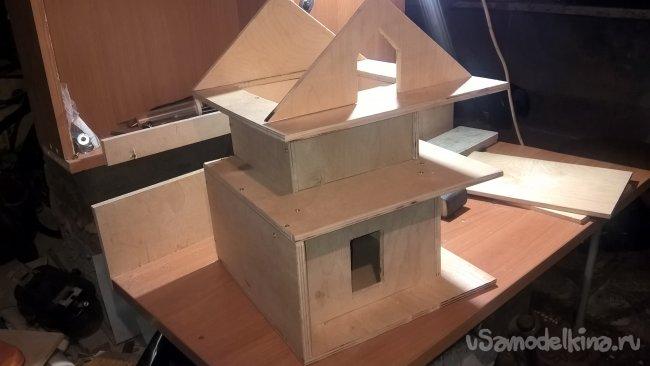 Двухэтажный скворечник в стиле люкс кормушка своими руками